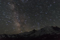 Mountains don't rotate (Greenneck) Tags: astro astrophotography nightscape landscape nightphotography stars mountrainier