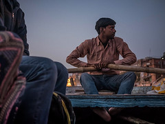Varanasi Boat Man - India (nicklaborde) Tags: 500px water river boatman local people lumix riverfront panasonic india varanasi boat man indian ganga waterfront gx7 lumixlounge