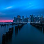 Manhattan Skyline at sunset - New York, USA - Travel photography thumbnail