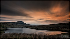 OLD MAN OF STORR AND LOCH FADA SUNRISE (vieribottazzini) Tags: scotland scozia isleofskye skye oldmanofstorr storr alba sunrise lochfada longexposure workshop workshops photographyworkshops photographyworkshop landscapephotography lake cloud clouds reflection leica leicasl formatthitech firecrest
