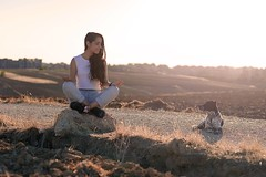 Self Portrait (Sara Ramos14) Tags: dog peace calm yoga