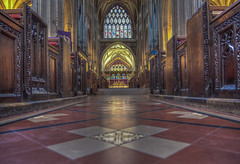 Does prayer really change things? (Wizard CG) Tags: st mary redcliffe church bristol england uk hdr samsung fisheye lens gothic architecture grade i listed building stained glass anglican parish epl7 ngc world trekker micro four thirds 43 aisle hall mosaic vault ceiling wood