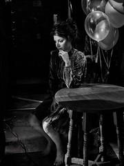 Lost In Thoughts (Edmond Terakopian) Tags: thoughtful thoughts candidportrait portraitphotography monochrome blackandwhite bw candid 25mm nokton voigtlander f095 availablelight lowlight portrait arts education royalcollegeofmusic music opera school london unitedkingdom gbr