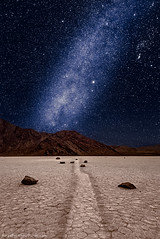 Milky Way Over the Racetrack (brentgoesoutside.com) Tags: bgo astrophotography best california d610 deathvalley desert february landscape milkyway nationalpark nature night nikon npt ptz racetrackplaya sailingstones sky travel watermark winter