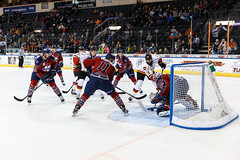 "Kansas City Mavericks vs. Kalamazoo Wings, November 29, 2017, Silverstein Eye Centers Arena, Independence, Missouri.  Photo: © John Howe / Howe Creative Photography, all rights reserved 2017 • <a style=""font-size:0.8em;"" href=""http://www.flickr.com/photos/134016632@N02/38713480732/"" target=""_blank"">View on Flickr</a>"