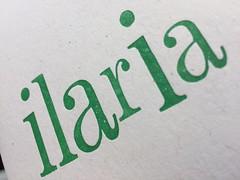 wood type letterpress ilaria (artnoose) Tags: green wood type letterpress stationery ilaria name
