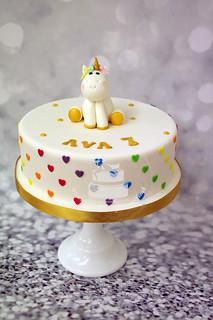 Cute Unicorn Cake