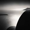 Sombre Santorini (One_Penny) Tags: aegean greece griechenland island santorin santorini canon6d travel ägäis sombre dark sinister light shadow sea mediterraneansea mediterranean europe square squareformat squarecrop lines shapes house curves isle caldera sky black white monochrome blackandwhite bw blancoynegro imerovigli