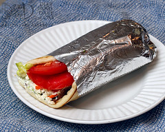 Gyro - D&D_2381 (Deft & Daft) Tags: foodfromthelevant tzatziki gyro amazingfood greatpeople localtakeout mediterranean middleeastern december 2017
