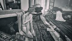 Lost in Memories (desiredarkrose) Tags: white~widow tattoo blackwhite blackandwhite art memories cherishville woman blog secondlife virtualphotography digitalphotography avatar nutmeg ink