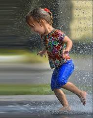 Warp Speed (swong95765) Tags: girl kid water wet running speed warp run flash cute