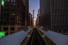 T-Tower (C_Dubyaa) Tags: trump tower international hotel chicago l train tracks cta