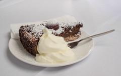 Delicious! (Wanda Amos@Old Bar) Tags: sydney wandaamos cherrypie cream dessert food fork hikey saucer 7dwf
