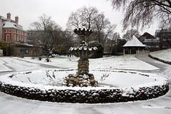 Empty fountain (davepuk) Tags: snow fountain