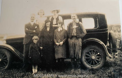 Charles Croall, Alice Baldwin, Charles Jr, Alice, Bessie, Helen and Evelyn Croall