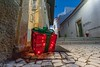 Lagos/P - Christmas Decoration (jr-teams.com - Photo) Tags: lagos faro portugal algarve nikon d700 nikkor afs 424120vrii 24120 christmas xmas weihnachten package gift geschenk decoration red
