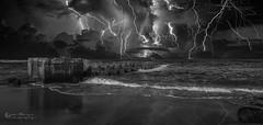 DSC_8683B (Quiet Storm!) Tags: nikond4 quietstormphotography quietstorm quietstormphotos oscarrivera bw blackwhite beach jersey jerseyshore newjersey fotopro storm lighting seascape nightshots night nightshot nightphotography