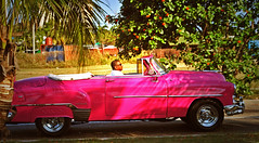 Hit the road Jack ! (Harry Szpilmann) Tags: lahabana classic rose vintage car people portrait streetphotography lahavane cuba hittheroadjack