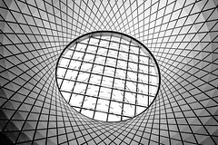Sky Reflector-Net in New York's Fulton Center: part 2 (jbarry5) Tags: skyreflectornet newyorkcity newyork newyorkarchitecture thefultoncenter fultoncenter blackandwhite geometry abstract