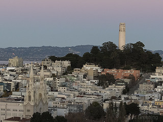 Coit Tower from Russian Hill b10789n