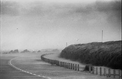 Img14.jpg (Red Gold and Green) Tags: sturm holland wind dunes sand monochrome colorfulsky storm flyingsand ouddorp coast erosion analog dramatic
