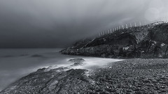 ... night time at Lady's Cove ... [Explored 11.11.17] (jane64pics) Tags: ladyscove greystonescameraclub greystones beach night nightshoot nightphotography nightsky janefriel janefriel2017 gcc wicklow cowicklow bw seascape sea bay sky ocean water rock mist coast shore shoreline