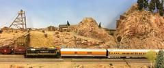 Model Train Show (atjoe1972) Tags: trains model railroad ho scale 187 locomotive modular layout rockymountaintoytrainshow denver colorado atjoe1972 rockymountaintrainshow 3417 3517 riogrande bumblebee drgw passenger gp7 prospector