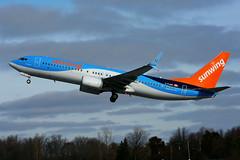 C-FJAU (Sunwing Airlines) (Steelhead 2010) Tags: sunwingairlines jetairfly tuifly boeing b737 b737800 yhm creg cfjau