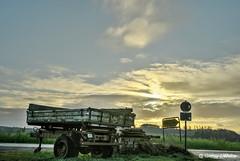 After sunrise... (GerWi) Tags: sunrise sonnenaufgang himmel sky wolken clouds sonya7 sony a7 weitwinkel anhänger trailer wegweiser sonne sun sonnenlicht light landwirtschaft bauernhof trogen dorf