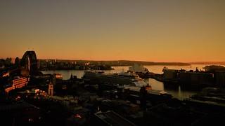 ✪ホテルから望むシドニーの夜明け