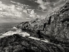Downeast Maine Coast Schooner Head Acadia (Dean OM) Tags: maine me downeast acadia national park np landscape seascape rock bw black white