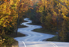 Autumn Curves (rjseg1) Tags: highway doorcounty fall autumn leaves curves curvy zigzag gillsrock