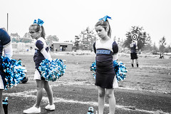 Cheering in Molalla (pete4ducks) Tags: cheerleaders 2017 molalla mountainsidemavericks mady madelyn willow blackandwhite 500views