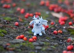 (free_dragonfly) Tags: jackalope bunny rabbit cute miniature toys blue