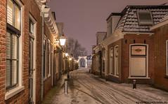 Huizum-dorp in Leeuwarden op 11 December 2017