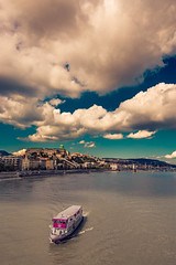 Budapest (Vagelis Pikoulas) Tags: budapest boat river danube hungary sky clouds cloudy travel view september autumn 2017 tokina 1628mm canon 6d vertical full frame