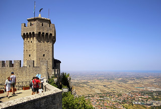 The second Tower Cesta with view on the Adriatic Sea