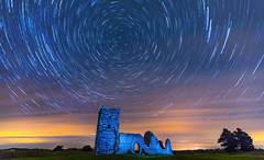 Cloudy Night Knowlton (nicklucas2) Tags: startrail stars night meteor knowlton church relic