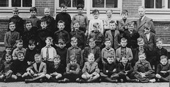 Class Photo (theirhistory) Tags: boy child kid shirt jumper shoes wellies school class form holland netherlands master teacher wellingtons pupils students education