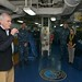 Secretary of the Navy delivers remarks during an all-hands call.