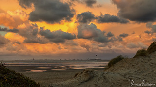 Beach, dunes and colorful sky