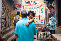 A glance...Un regard (geolis06) Tags: geolis06 asia asie inde india uttarpradesh varanasi benares street portrait enfant children bébé baby inde2017 olympus