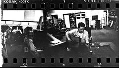 film_2017-1947 (kentkessinger) Tags: kentkessingerbalckandwhite400trixyashica124gpentaxtak kentkessingerbalckandwhite400trixyashica124gpentaxtakumardualprocessfilmmamiya moonshine jelly moonshinejelly studio creamery oakland recording