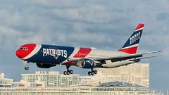 20841 • Pats Approach (N36NE) (Visual Approach Graphics & Imaging) Tags: fortlauderdale fll kfll patriots newengland n36ne 767300 767323 n366aa airkraft team125