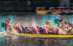 35th Singapore River Regatta 2017 (Night Race) (leslie hui) Tags: nightscape dragonboat singapore panning night
