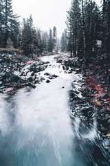Im addicted to a life that's so empty and so cold. (dvgang) Tags: l love adventure water blue cold snow longexpo california