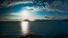 Sunset in Lerici, Italy (BalintL) Tags: travesl lerici italy sea sunset clouds sky blue orange autumn silhouette