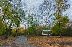 1338__0621FLOP (davidben33) Tags: brooklyn 718 ny quotnew yorkquot quotprospect parkquot autumn 2017 fall trees bushes leaves lake pets gooses ducks water sky clouds colors yellow green blue people quotstreet photosquot