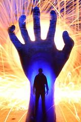 Hand Solo. (martbarras) Tags: martbarras lightpainting lightpainter lightpaint lpuk lpwa lens capped double raw conversion swap urbex abandoned shoreham brighton portsmouth hand solo surreal light art steelwool torch vape