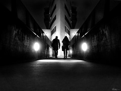 on a cold early morning (René Mollet) Tags: cold night nightshot nightwalker bemen aarau early earlymorning blackandwhite bw urban urbanstreet street streetphotography shadow silhouette streetart streetphotographiebw candite symmetry